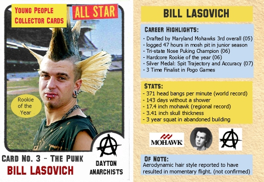 punk rocker trading card