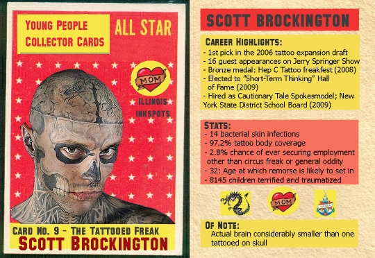 tattooed freak trading card